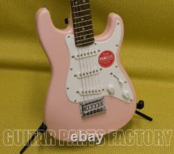 037-0121-556 Squier by Fender Mini Stratocaster Electric Guitar Shell Pink