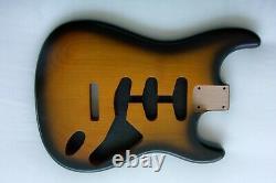 2 Piece Stratocaster Body / NITRO / Sunburst /STRAT / Alder / Fits Fender