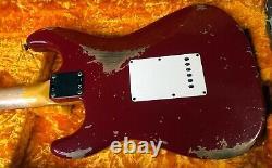 2020 Fender 1960 Stratocaster Heavy Relic Dakota Red Custom Shop Strat 7.7 lbs
