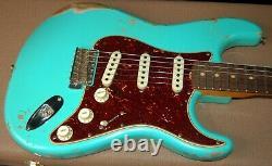 2020 Fender 1962 Stratocaster Heavy Relic Seafoam Green Custom Shop Strat OHSC