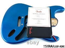 2020 Fender American Ultra Stratocaster Strat BODY, USA Guitar Part Cobra Blue