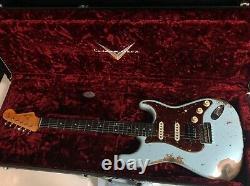 2021 Fender 62 Stratocaster HSS Heavy Relic Modern Specs Sonic Blue Custom Shop
