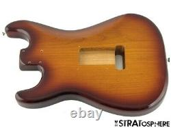 2021 Fender Deluxe Series Stratocaster Strat BODY 2 Point Contour Tobacco Burst