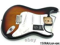2021 Fender Player Stratocaster Strat LOADED BODY Guitar Parts Sunburst