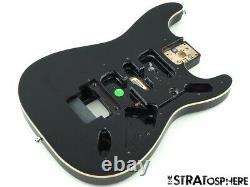 2021 Fender Tom Morello Stratocaster Strat BODY Floyd Rose Route, Bound Black