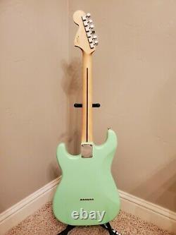 2021 Strat Build Hardtail Fender Invader Surf Green Tom Delonge Style with Gig Bag