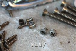 54-64' Vintage style aged Hardware Accessorie Set incl. Tremolo fits Fender