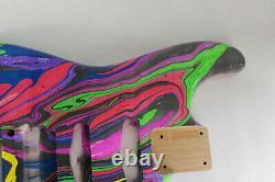 Alder HSS guitar body fits Fender Strat Stratocaster neck Floyd Rose J307
