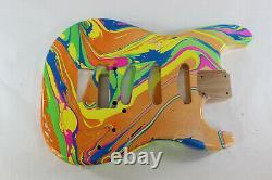 Alder SSS guitar body fits Fender Strat Stratocaster neck Floyd Rose J168