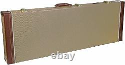 Crossrock Wood Hard Case Fits Fender Telecaster and Stratocaster Electric Guitar