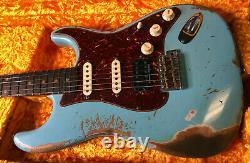 Fender 1962 Stratocaster HSS Heavy Relic Modern Specs Daphne Blue Custom Shop