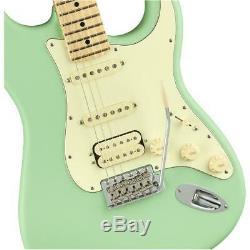 Fender American Performer Stratocaster, HSS, Maple Fingerboard, Satin Surf Green