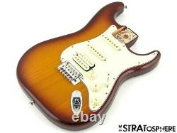 Fender Deluxe HSS Stratocaster Strat LOADED BODY 2 Point Noiseless S-1 Tobacco