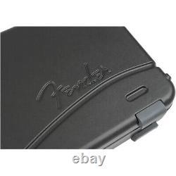 Fender Deluxe Molded Stratocaster Telecaster Electric Guitar Hard Case Black
