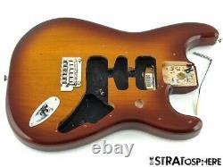 Fender Deluxe Series Stratocaster Strat BODY + HARDWARE 2 Point Tobacco Burst