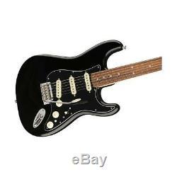 Fender Deluxe Stratocaster Electric Guitar, Pau Ferro Fingerboard, Black