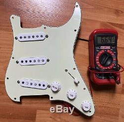 Fender ERIC JOHNSON Pickups PIO Loaded Pickguard Strat Stratocaster Prewired USA