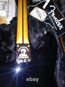 Fender Jimi Hendrix Stratocaster Electric Guitar Black with Fender Hard Case