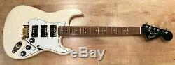Fender Limited Edition Mahogany Blacktop Stratocaster HHH Olympic White