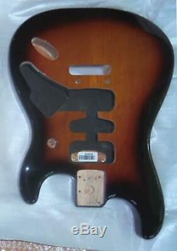 Fender MIM HSH Deluxe Sunburst Strat Body2 Point BridgeContoured Heel-New