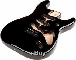 Fender Mexico Stratocaster/Strat SSS Vintage Bridge Mount Alder Body, BLACK