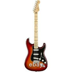 Fender Player Stratocaster Plus Top Maple Fingerboard Guitar Aged Cherry Burst
