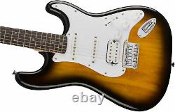 Fender Squier Bullet Stratocaster HSS Hard Tail Brown Sunburst with Gig Bag