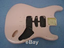 Fender Squier Shell Pink Stratocaster Hardtail Fat Strat Body Ht Electric Guitar
