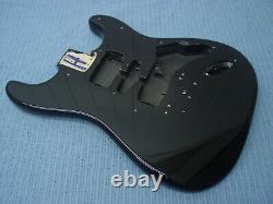 Fender Squier Strat Hardtail Stratocaster Black Body Electric Guitar Fat Ht