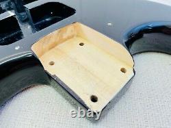 Fender Squier Strat Hardtail Stratocaster Black Body Electric Guitar Ht Fat