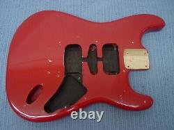 Fender Squier Strat Hardtail Stratocaster Fiesta Red Body Electric Guitar Ht Fat