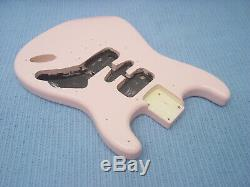 Fender Squier Strat Hardtail Stratocaster Shell Pink Body Electric Guitar Ht