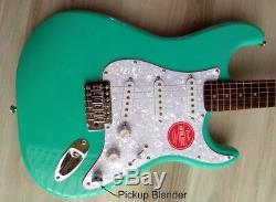 Fender Squier Stratocaster Guitar Turbo+ SSS with Blender MOD Seafoam Strat NEW