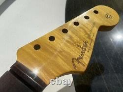 Fender Stratocaster Maple Flame neck rosewood 59 style clay dots