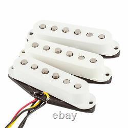Fender Tex-Mex Strat/Stratocaster Single Coil Pickups Set (White)