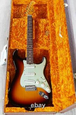 Fender Vintage Custom 1959 Stratocaster NOS Guitar, Chocolate 3-Color Sunburst