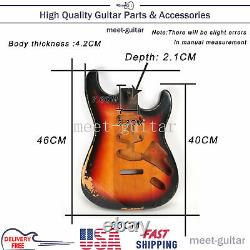 For Fender Stratocaster Electric Guitar Body Replace Vintage Sunburst Relic USA