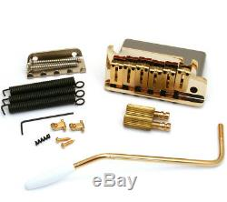 Genuine Fender AM SRS Stratocaster/Strat Guitar Tremolo Bridge Assembly GOLD