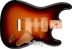 Genuine Fender Deluxe Series Stratocaster HSH Body Modern Bridge 3-TONE SUNBURST