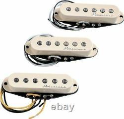 Genuine Fender Hot Noiseless AGED WHITE Stratocaster Pickup Set 099-2105-000
