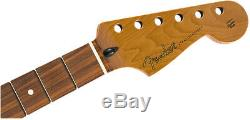 Genuine Fender Roasted Maple Stratocaster Neck 12 Pau Ferro Flat Oval