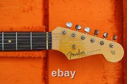 Gorgeous! Fender USA Custom Shop'61 Stratocaster Relic Slab Board Olympic White