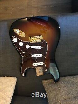 LOADED USA Fender Stevie Ray Vaughan SRV Strat BODY Stratocaster Burst