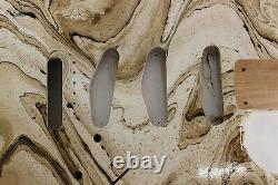 Mocha swirled Alder SSS Strat Stratocaster body Fits Fender neck J166
