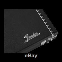 NEW Fender Classic Series Wood Guitar Hard Case Stratocaster Telecaster Black