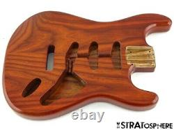 NEW Replacement BODY for Fender Stratocaster Strat, Roasted Ash, Amber