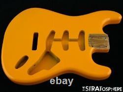 NEW Replacement BODY for Fender Stratocaster Strat, Roasted Ash, Capri Orange