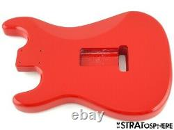 NEW Replacement BODY for Fender Stratocaster Strat, Roasted Ash, Fiesta Red