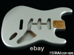 NEW Replacement BODY for Fender Stratocaster Strat, Roasted Ash, Firemist Silver