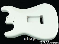 NEW Replacement BODY for Fender Stratocaster Strat, Roasted Ash, Olympic White